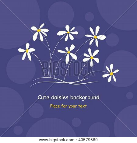 Cute Daisies Background