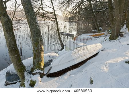 Dinghies In The Snow