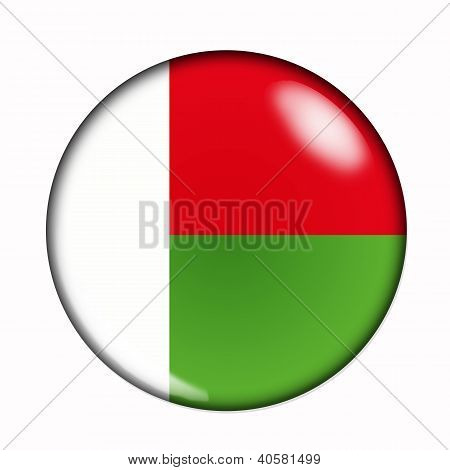 Button Flag Of Madagascar