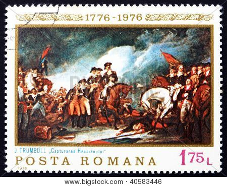 Postage stamp Romania 1976 The Capture of the Hessians
