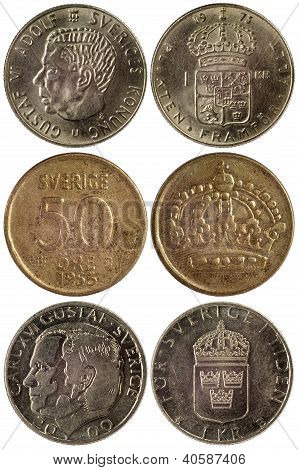 Different Coins Of Sweden