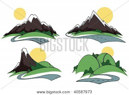 Hills and mountains