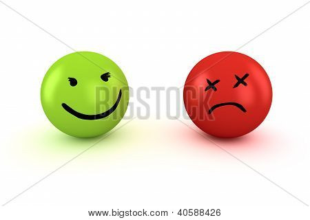 Sad And Happy Emoticons