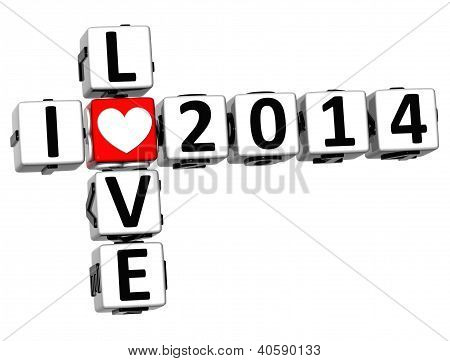 3D I Love 2014 Crossword