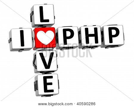 3D I Love Php Crossword