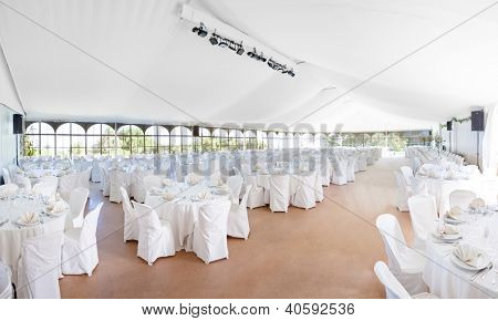 Wedding, event, celebration,  banquet, dinner, reception area tent