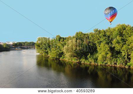 A beautiful hot air balloon