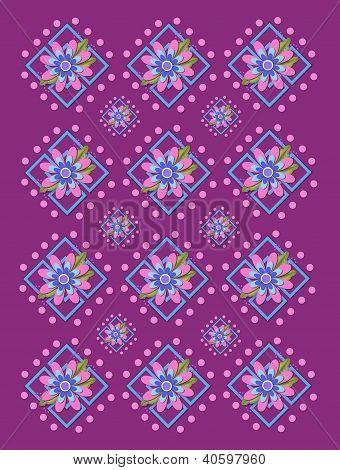 Jardim treliça em duas roxas