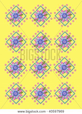 Jardim treliça em amarelo