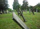 image of revolutionary war  - These tombstones date back to the year 1732 - JPG