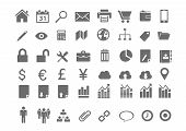 48 Minimal Business Icons
