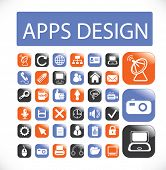 app design icons set, vector