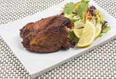 image of raita  - Tandoori chicken served with salad - JPG