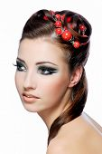 Beauty Hairstyle And Stylish Make-Up poster