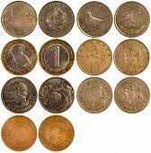 Постер, плакат: Старый редкие монеты разных стран