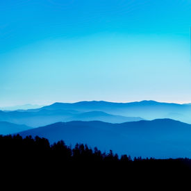 stock photo of smoky mountain  - View from Clingmans Dome Great Smoky Mountains National Park Tennessee - JPG