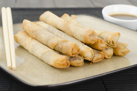 picture of lumpia  - Duck Spring Rolls  - JPG
