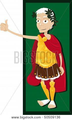Julius Caesar thumbs up