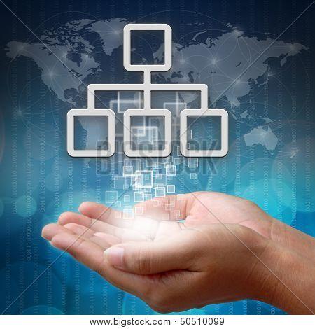 Network Symbol On Hand