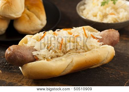 Homemade Bratwurst With Sauerkraut