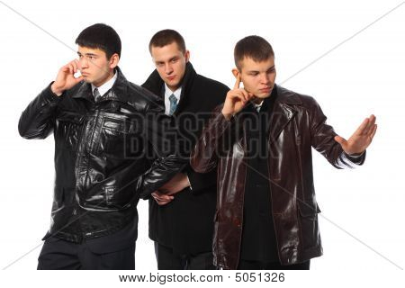 Businessman With Two Bodyguards