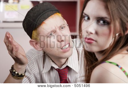 Young Man And Woman With A Disagreement
