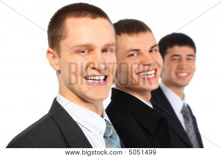 Three Laughing Businessmen