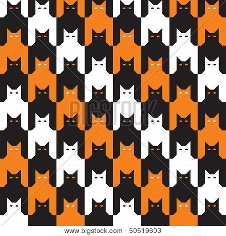 Catstooth Halloween Pattern
