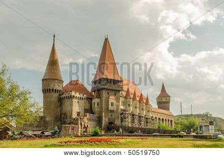 Corvin Castle Palace In Hunedoara, Romania