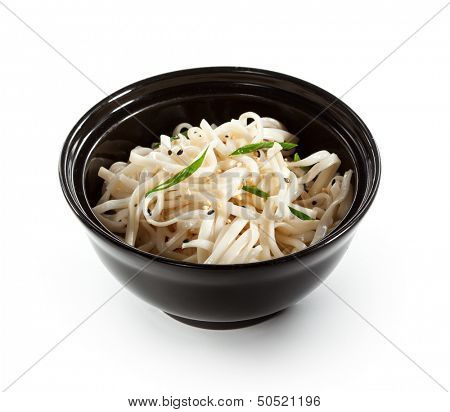 Udon Noodles Black Bowl