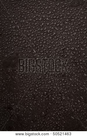 Water Drops over Black