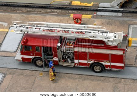 Panama Canal fire truck