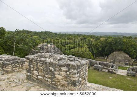 On Top Of Mayan Ruins At Caracol