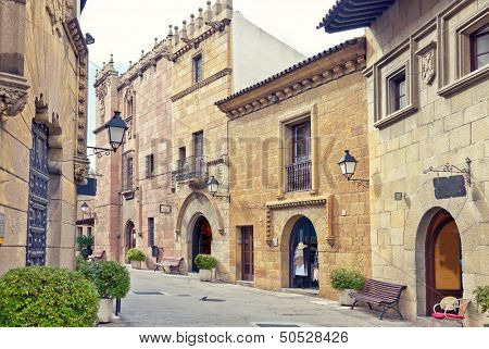 Poble Espanyol (traditional architectural complex) in Barcelona, Spain