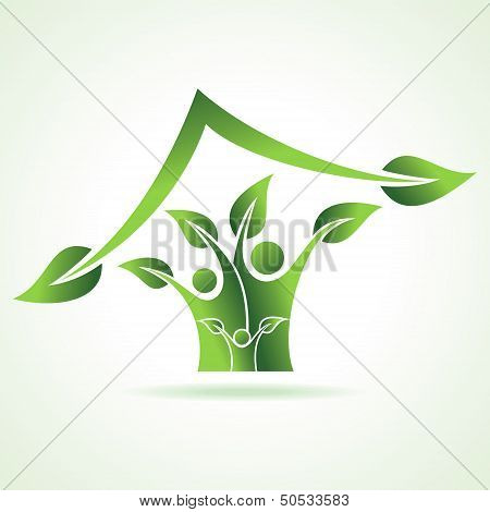 eco family icon make home