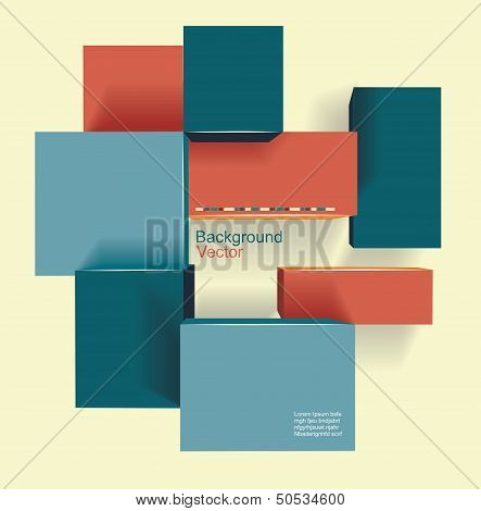 Text Box Vector / Frame Vector / Colorful Cubes With  Place For Your Text