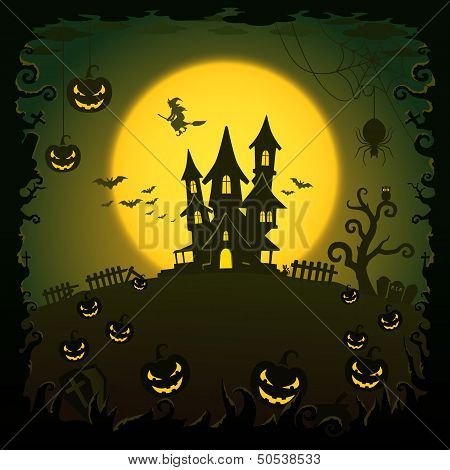 Scary House, Halloween Background