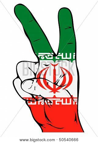 Peace Sign of the Iranian flag