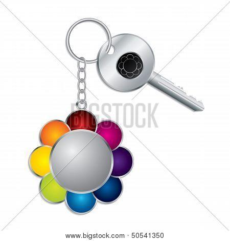 Flower Keyholder With Key