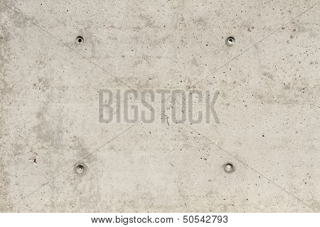 Concrete Surface With Four Squared Boreholes