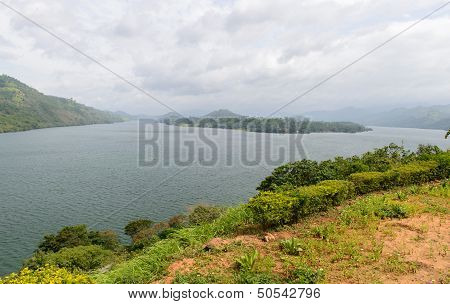 Sri Lanka. Different Views Of The Lake. Natural Landscape