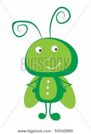 Grasshopper vector illustration.