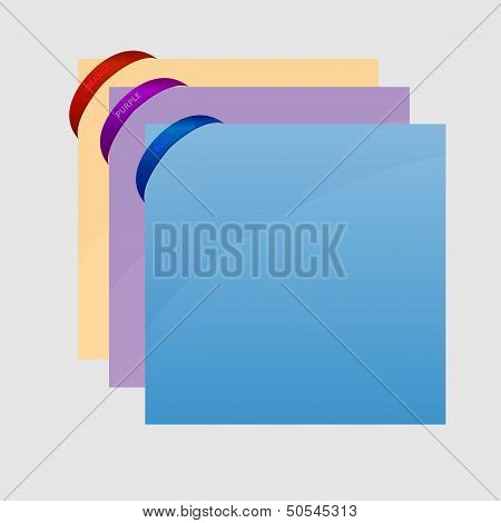 Rubber Band Corner With Sheet On Gray Background