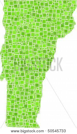 Isolated map of Vermont - USA -