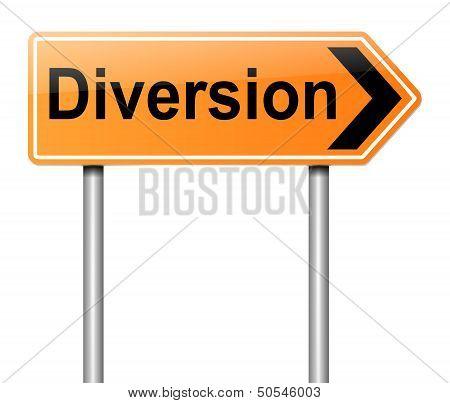 Diversion Sign.
