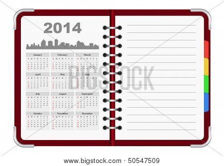 calendar 2014 organizer notepad
