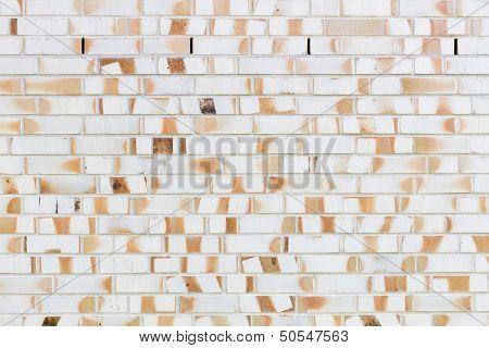 Bright Wall Of Bricks In Yellow And Orange