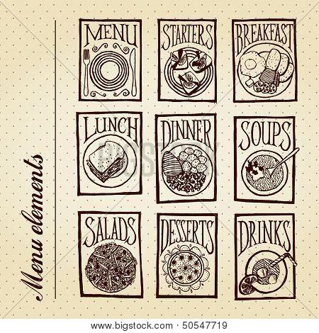 Menu elements - courses