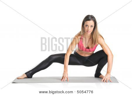 Female Athlete Isolated On A White Background