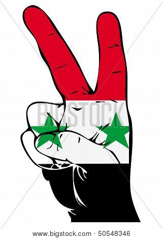 Peace Sign of the Syrian flag